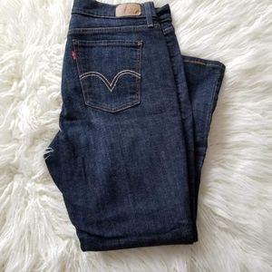 12Short Levi's 515 Boot Cut Jeans  Dark wash